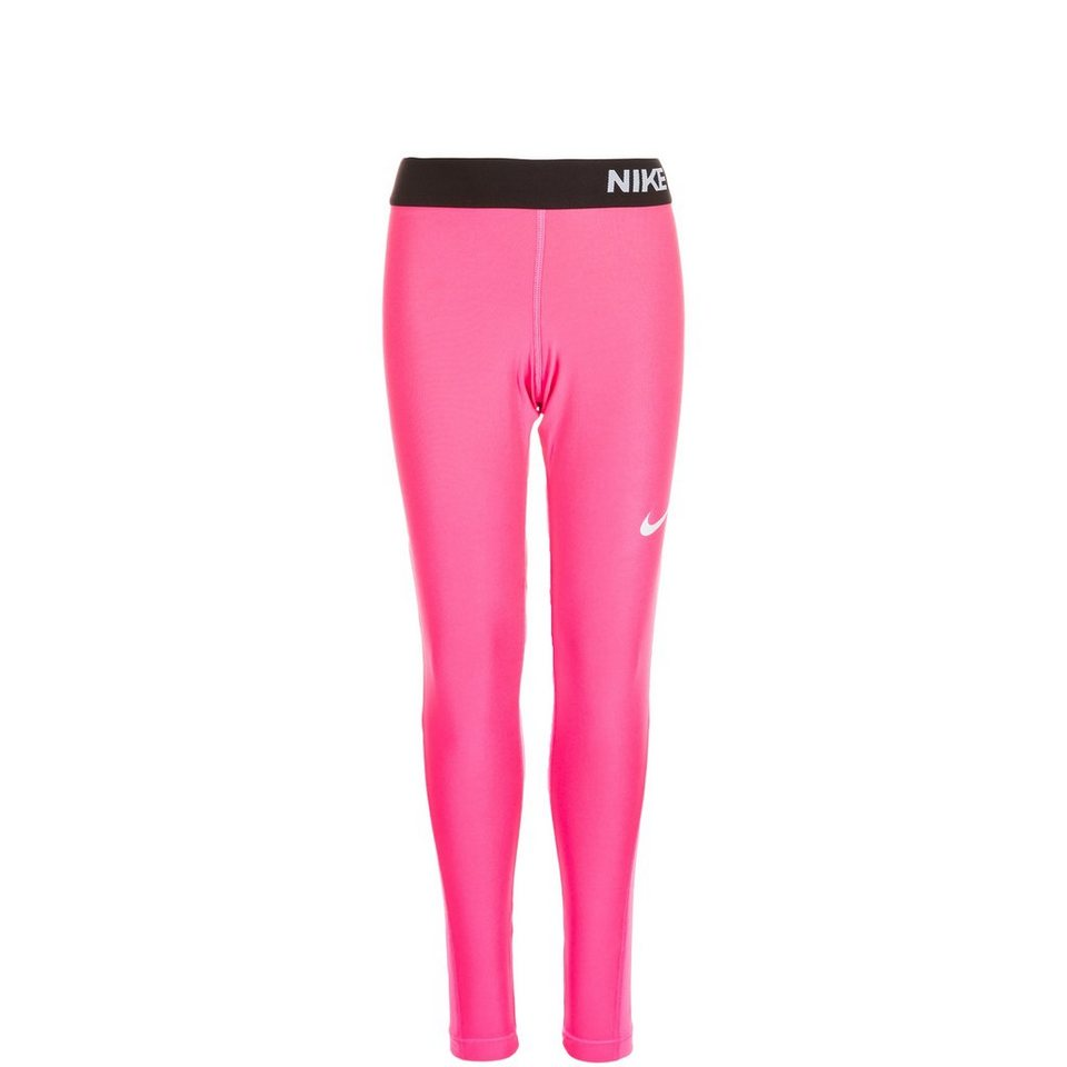 NIKE Pro Dry Trainingstight Kinder in pink / schwarz