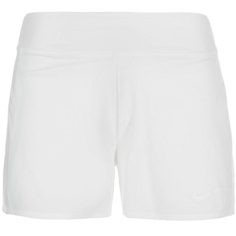 NIKE Baseline Tennisshort Damen in weiß