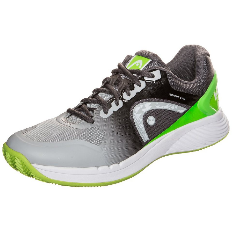 HEAD Sprint Evo Clay Tennisschuh Herren in grau / neongrün
