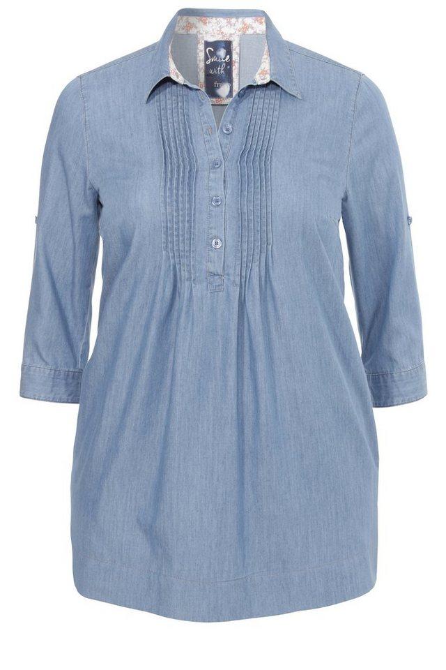 FRAPP Feminine Jeans-Tunika in LIGHT DENIM BLUE