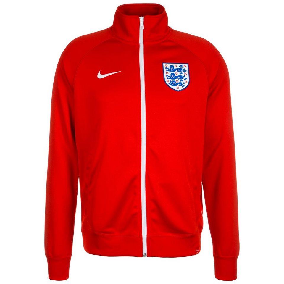 NIKE England Core Trainer Trainingsjacke EM 2016 Herren in rot / weiß