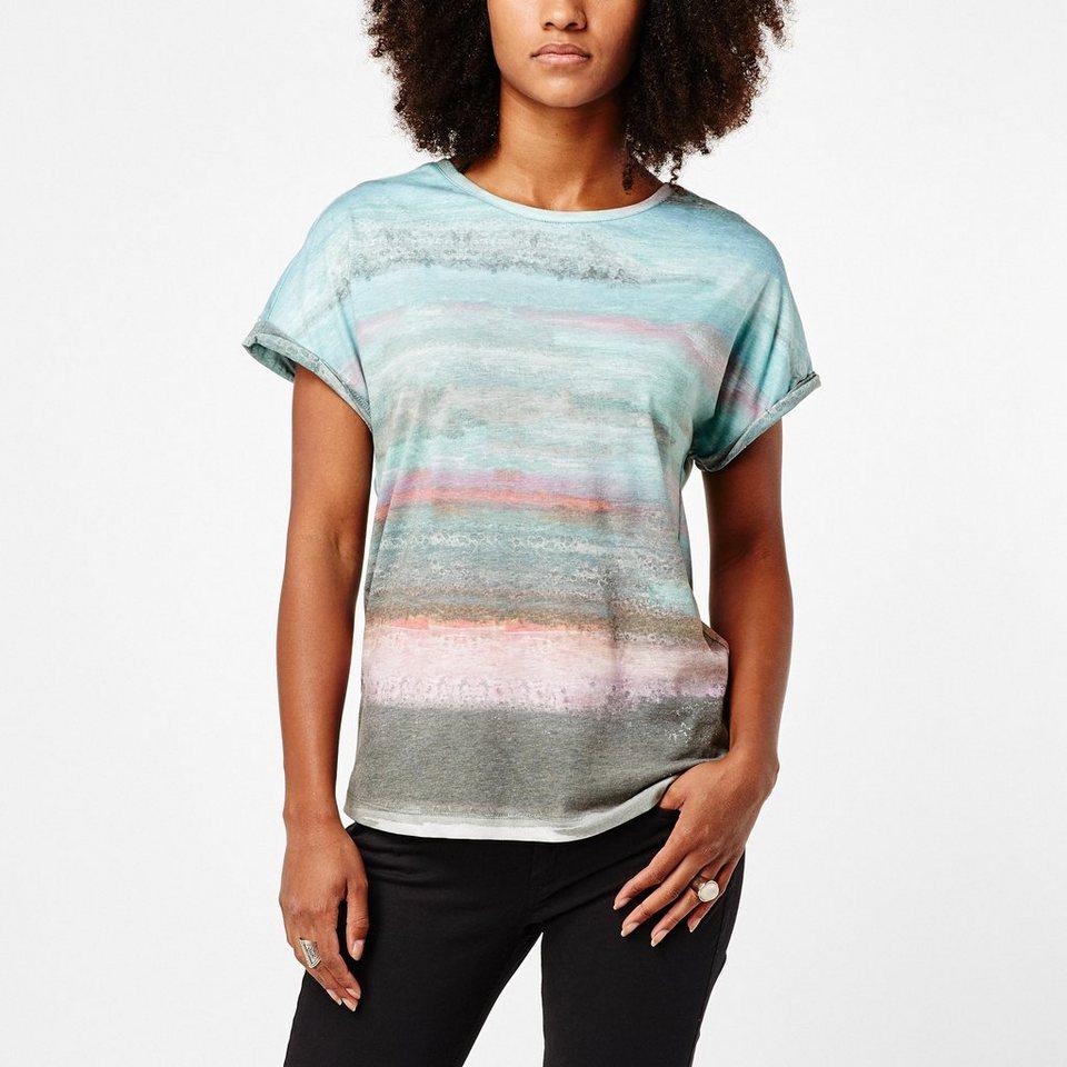 O'Neill T-Shirt kurzärmlig »Open Your Heart« in Weiß gemustert