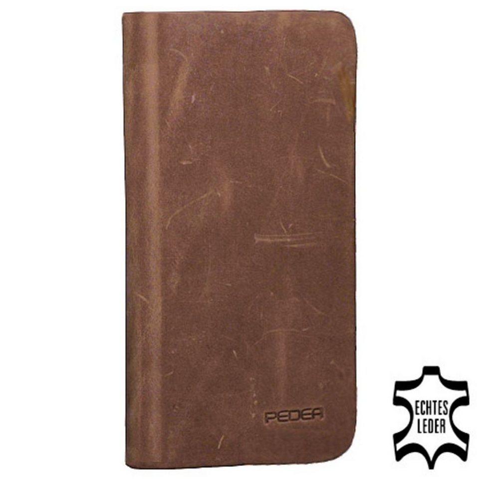PEDEA Handytasche »Echtleder Book Cover für Samsung Galaxy S7« in Braun