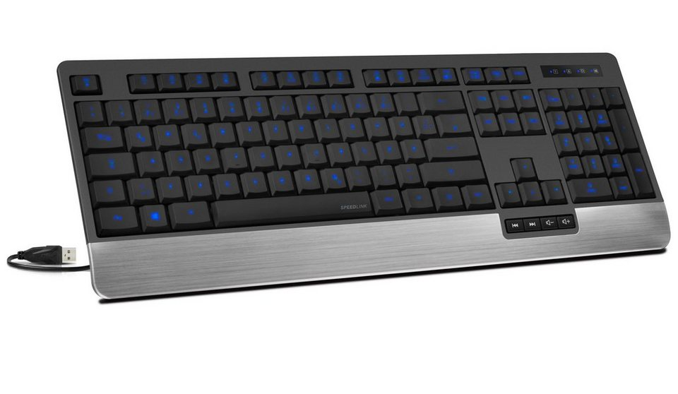 SPEEDLINK Tastatur »LUCIDIS Comfort Illuminated Keyboard - USB«