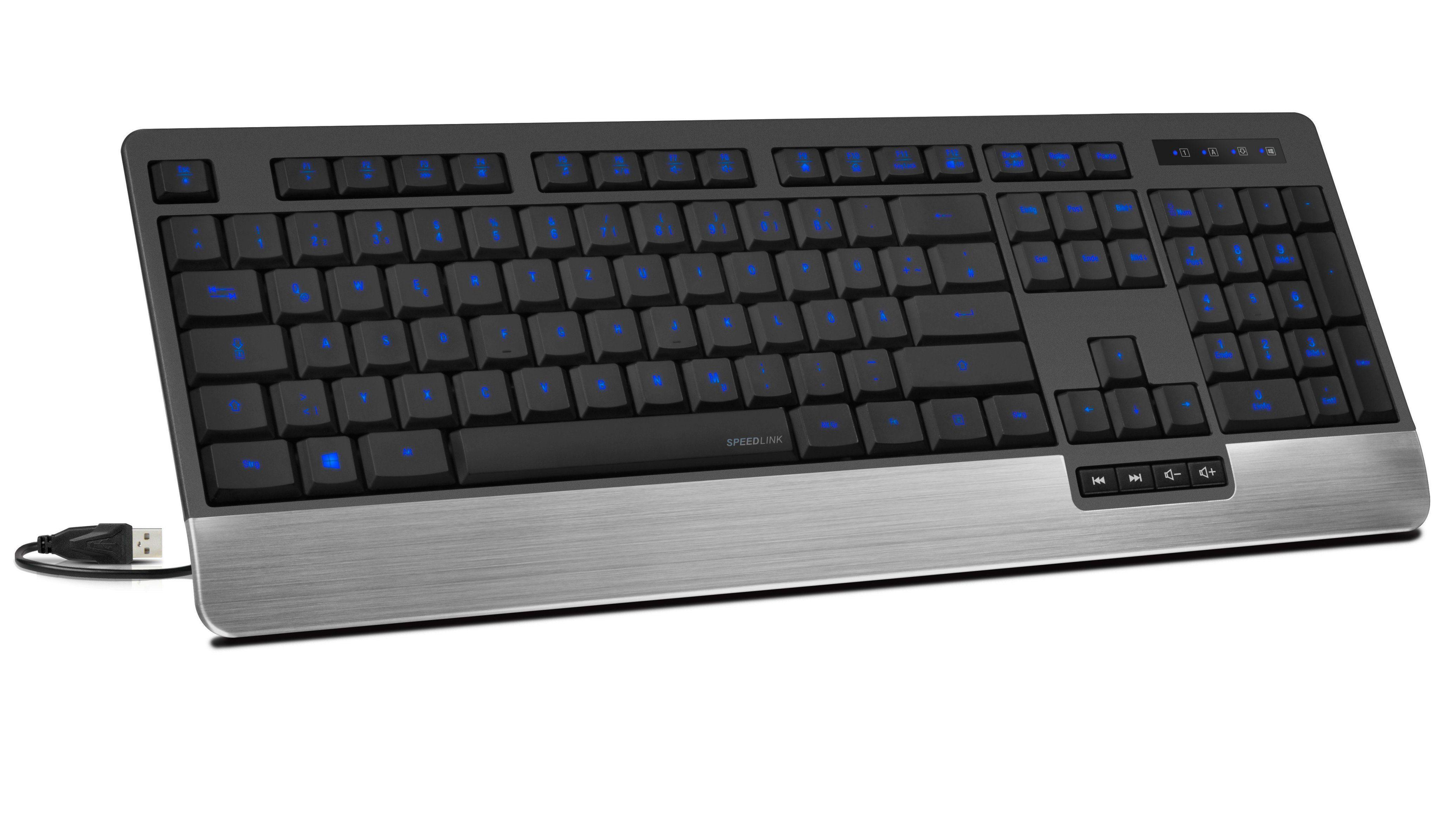 SPEEDLINK Tastatur »LUCIDIS Comfort Illuminated Keyboard - USB«