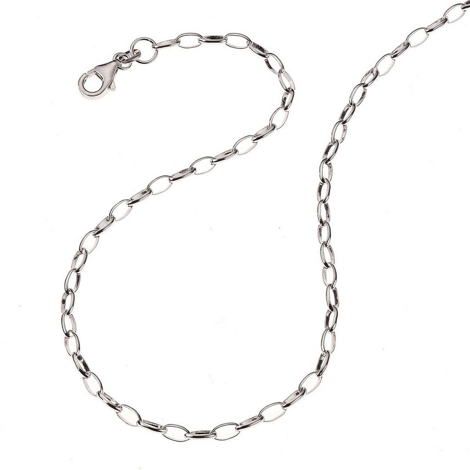 Zeeme Collier »Kindercollier 925/- Sterling Silber 38cm« in weiß