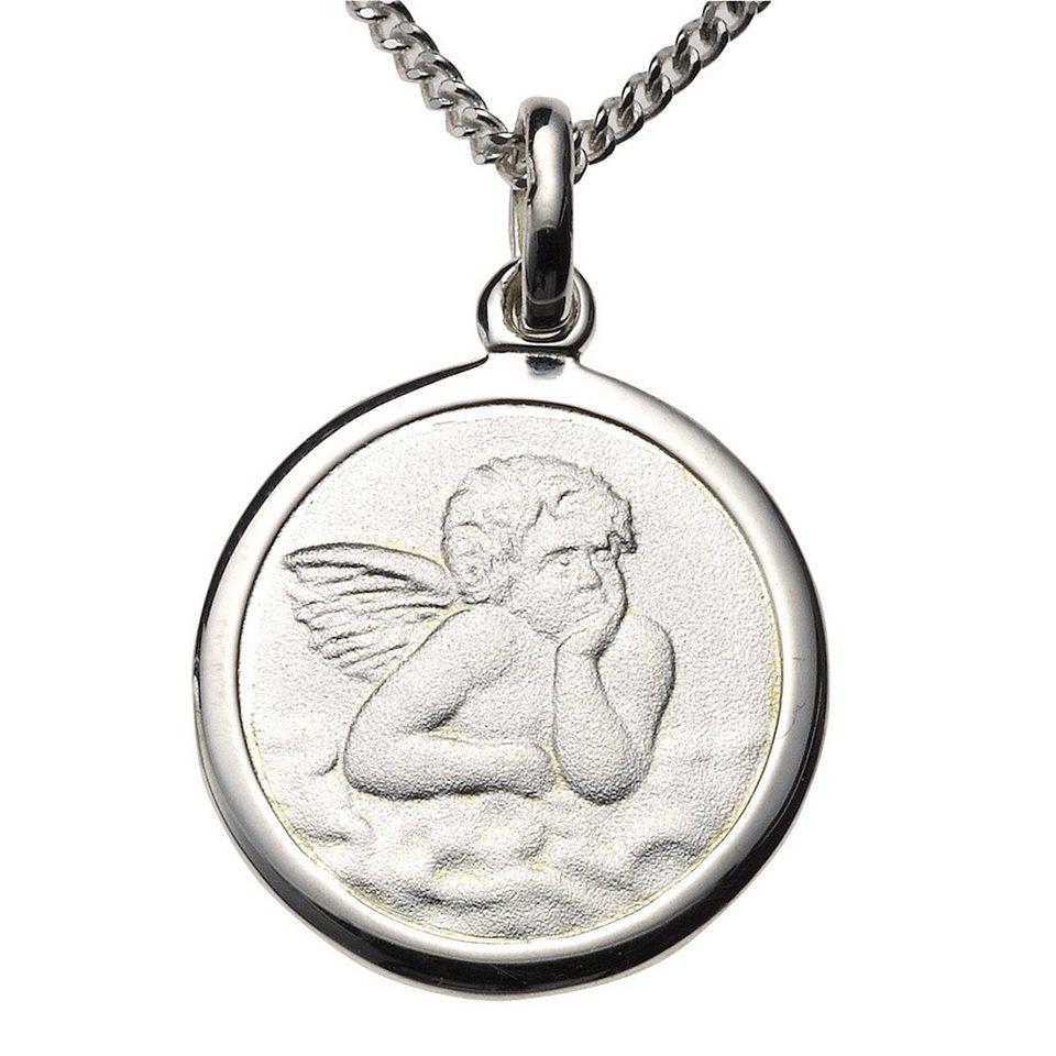 Zeeme Anhänger mit Kette »925/- Sterling Silber Engel« in weiß