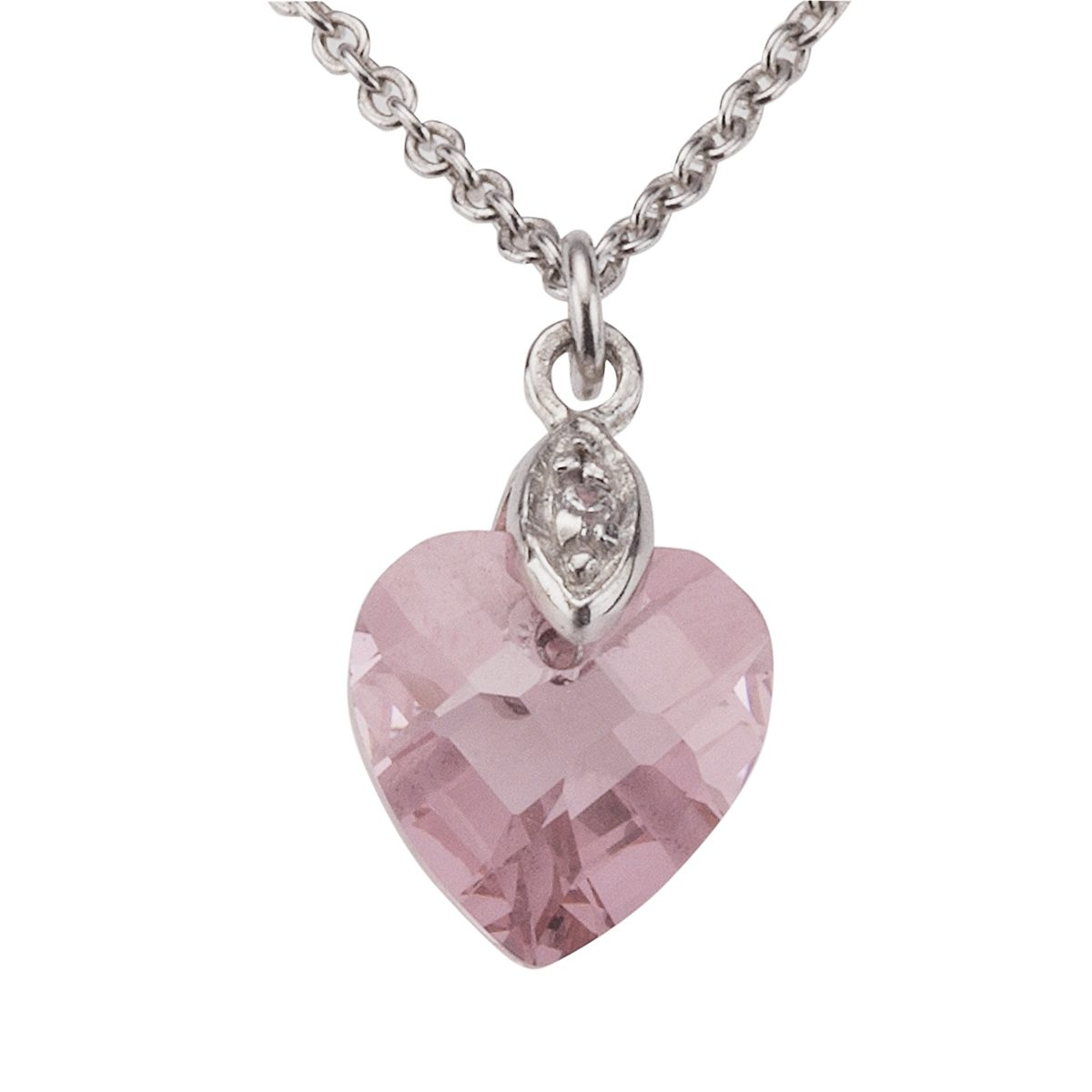 Zeeme Anhänger mit Kette »925/- Sterling Silber Zirkonia pink«