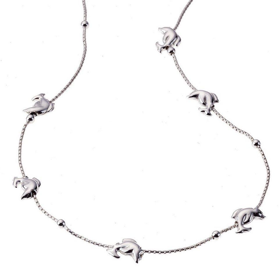 Zeeme Collier »Kindercollier 925/- Silber Delfin« in weiß