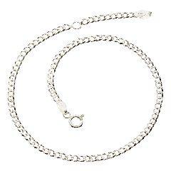 Zeeme Fußkette »925/- Sterling Silber 23-26cm« in weiß