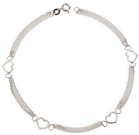 Zeeme Fußkette »925/- Sterling Silber Herzmotiv« in weiß