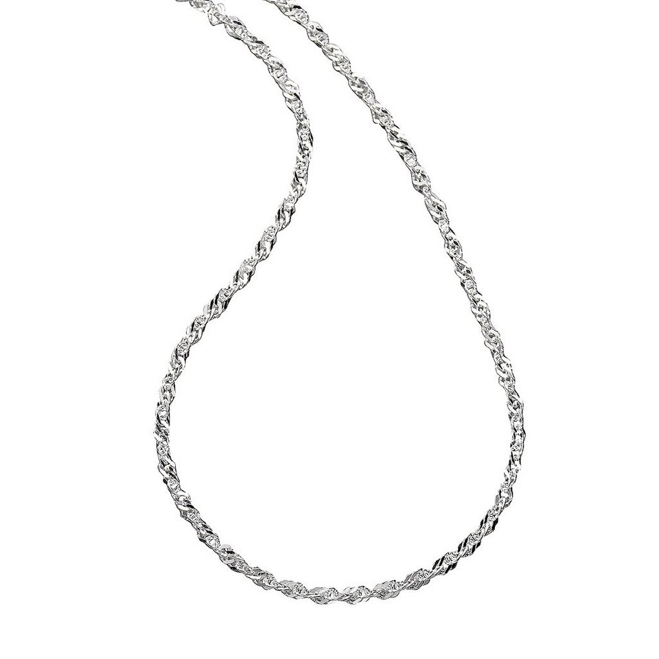 Zeeme Collier »925/- Sterling Silber Singapurkette« in weiß