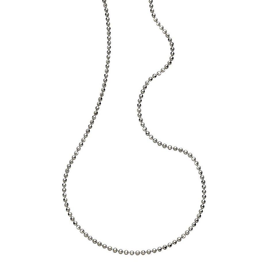Zeeme Collier »925/- Sterling Silber Kugelkette 60cm« in weiß