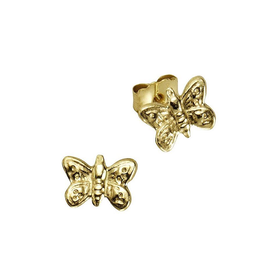 Zeeme Ohrstecker »333/- Gelbgold Schmetterlinge« in gelb