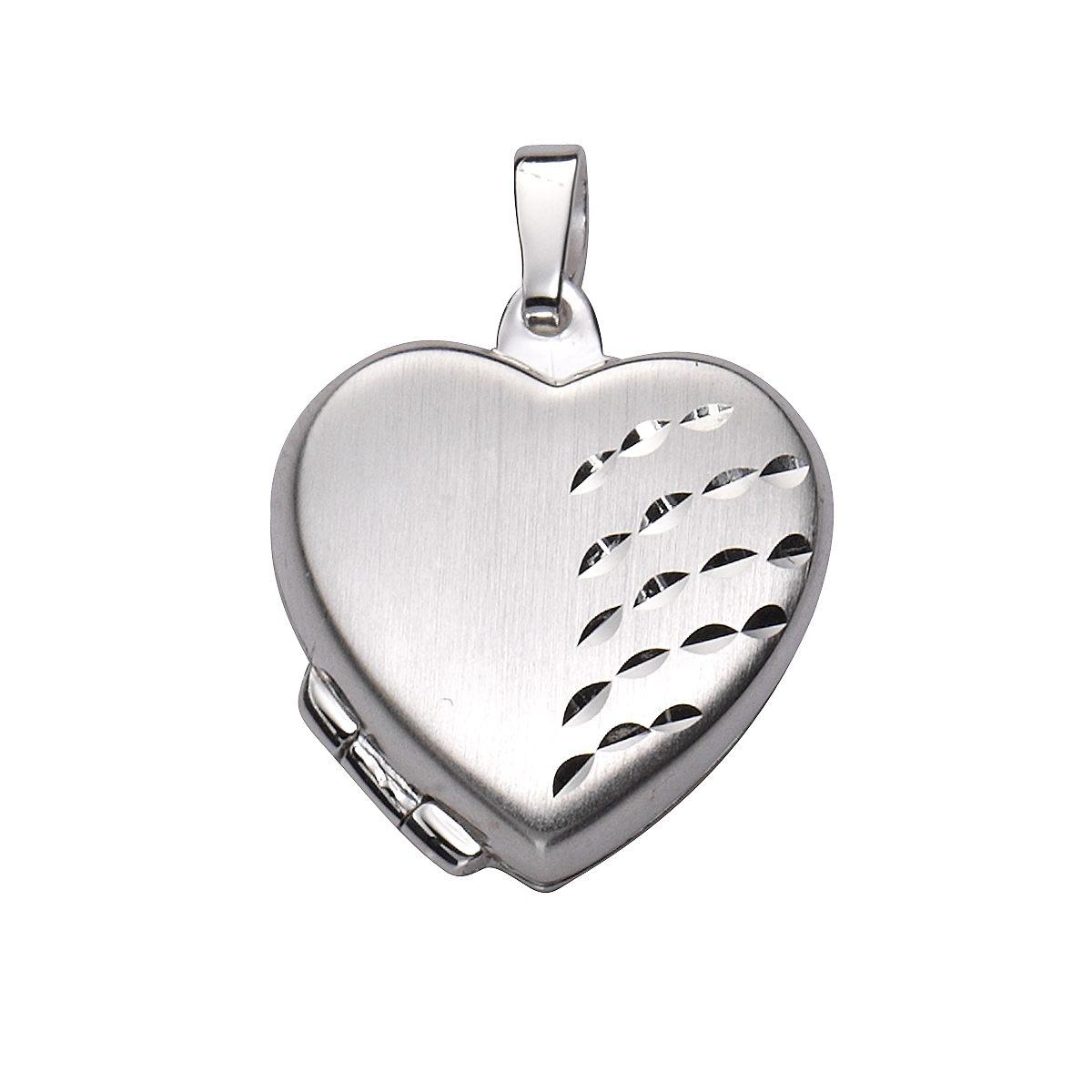 Zeeme Anhänger »925/- Sterling Silber Herz Medaillon«