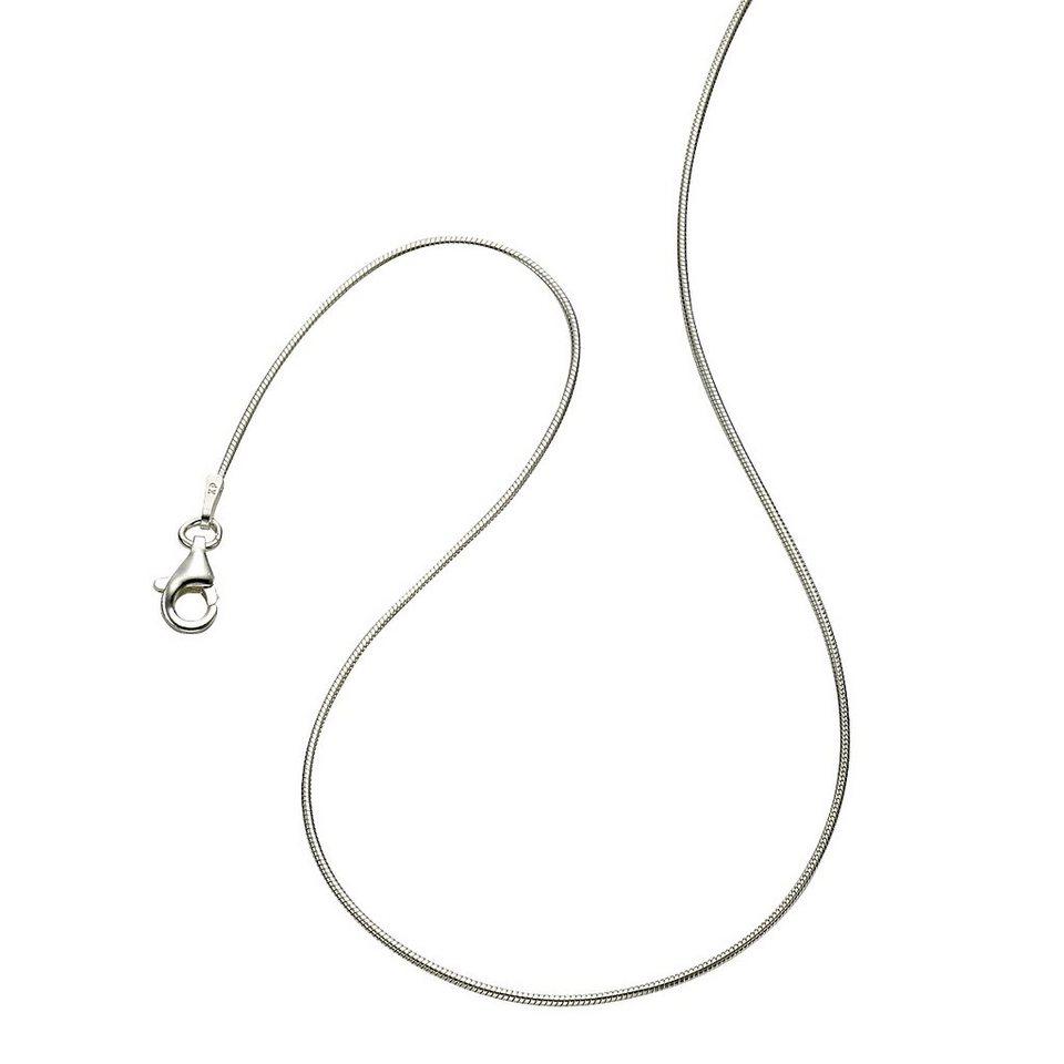 Zeeme Collier »925/- Sterling Silber Schlangenkette« in weiß