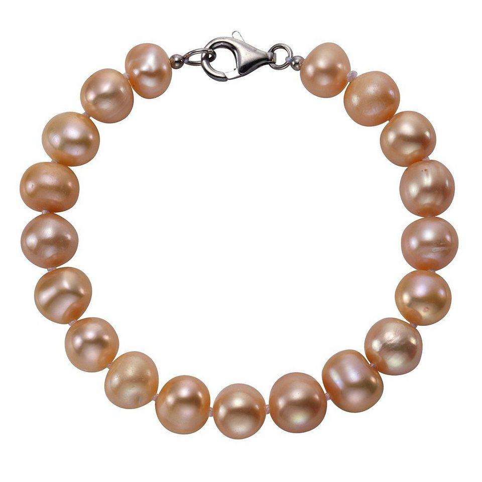 Zeeme Armband »925/- Sterling Silber Perle rosé« in rose
