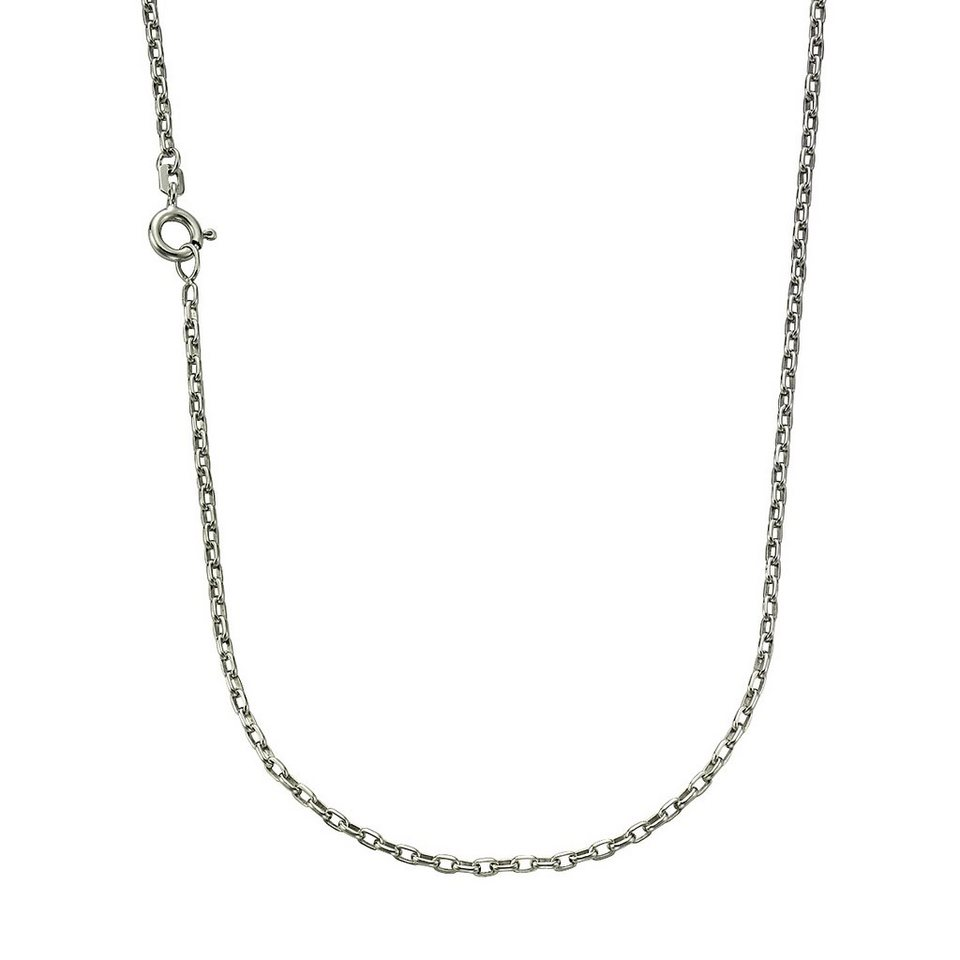 Zeeme Collier »925/- Sterling Silber Ankerkette 45cm« in weiß
