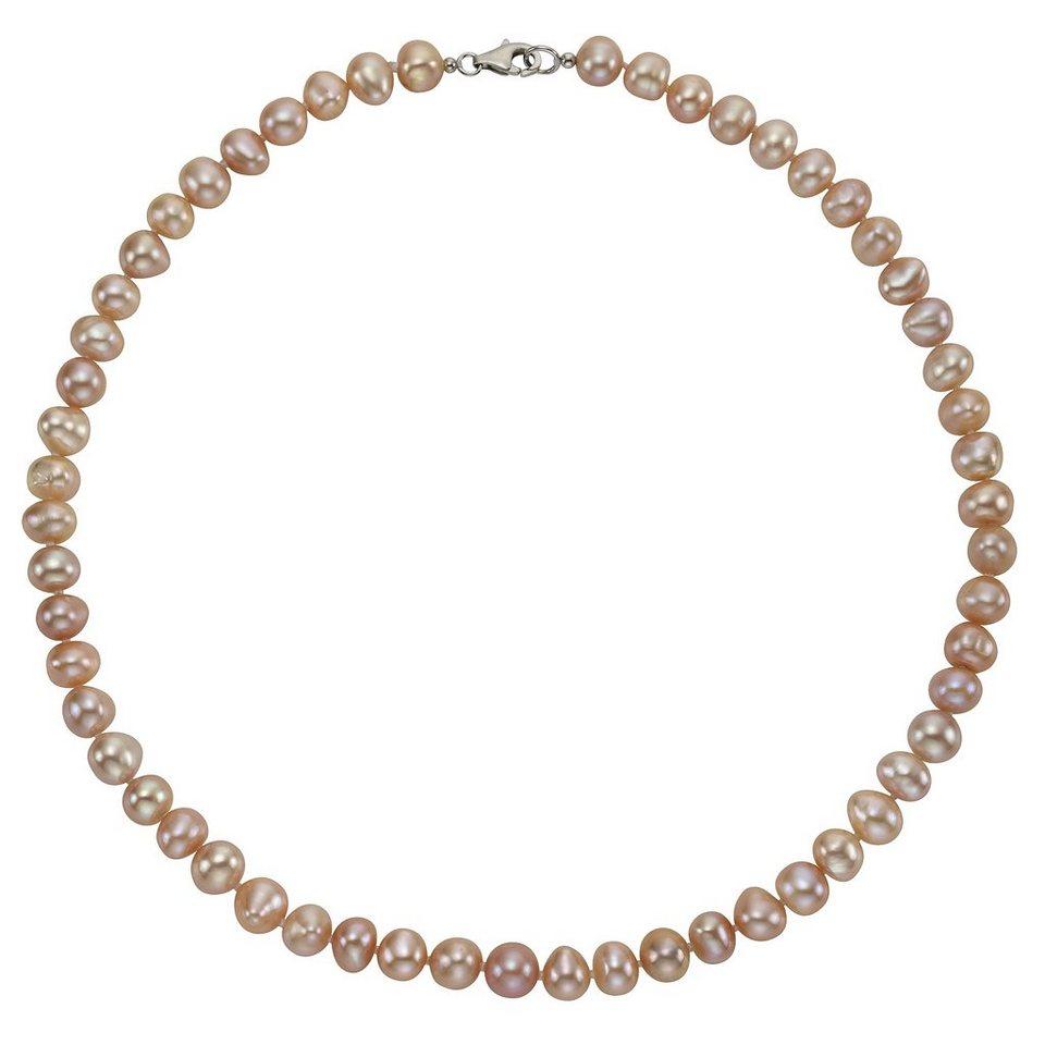 Zeeme Collier »925/- Sterling Silber Perle rosé« in rose