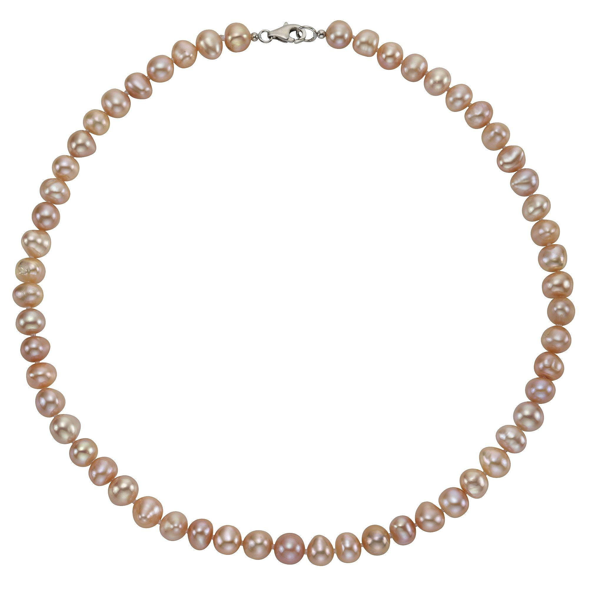 Zeeme Collier »925/- Sterling Silber Perle rosé«
