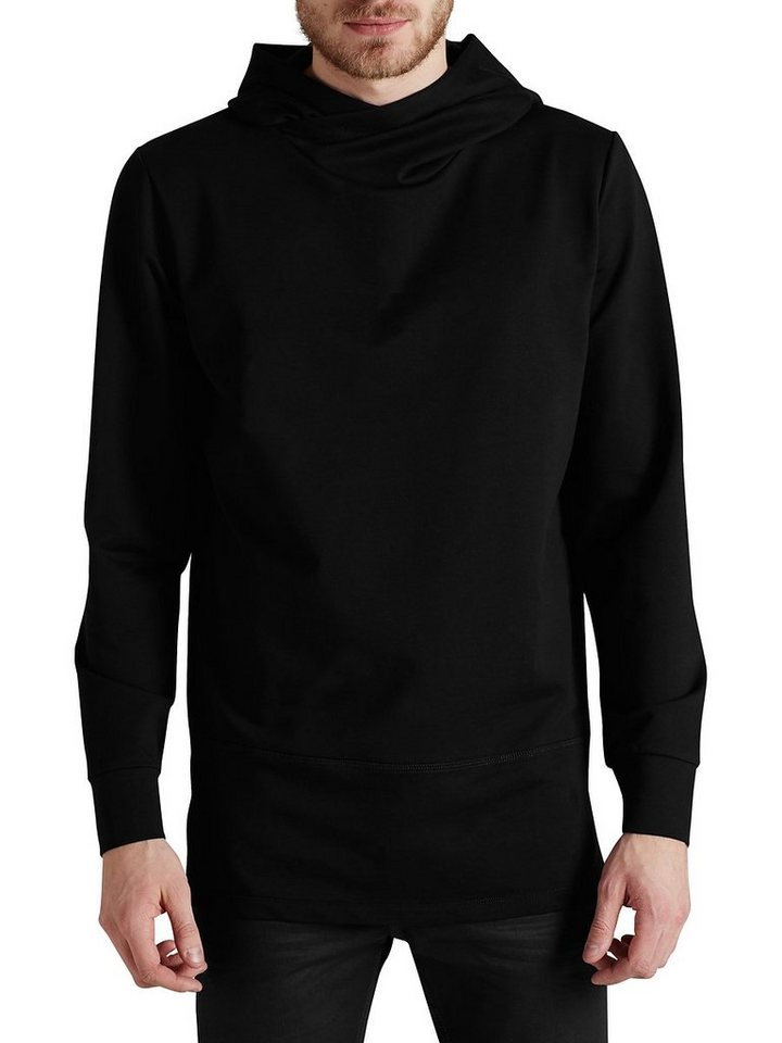 Jack & Jones Longline Sweat Hoodie in Black