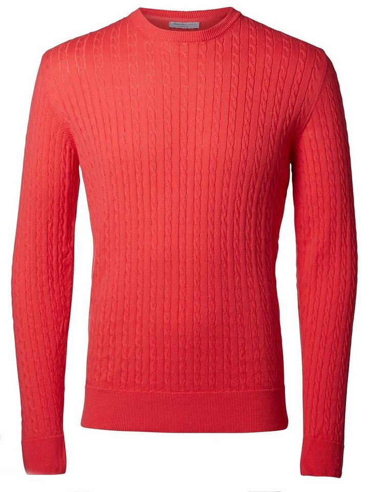 Selected Crew-Neck- Strickpullover in Paradise Pink