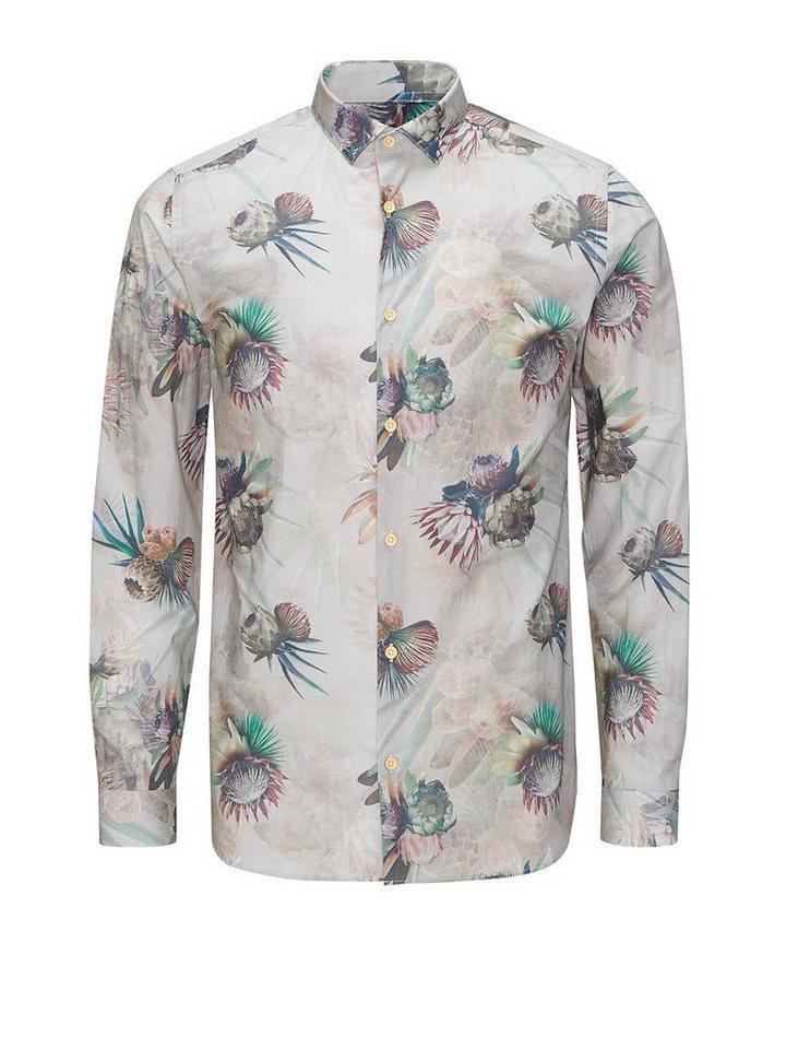 Jack & Jones Blumenbedrucktes Freizeithemd in Wind Chime