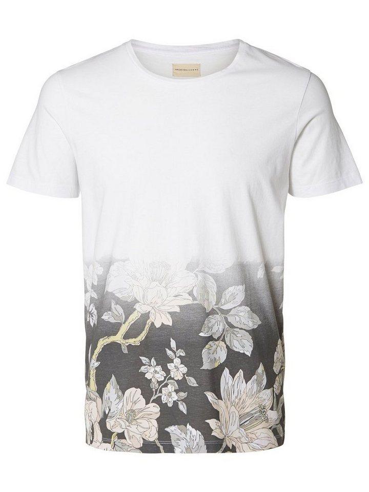 Selected Bedrucktes T-Shirt in White 2