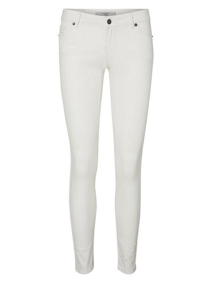 Vero Moda Five LW Skinny Fit Jeans in Bright White