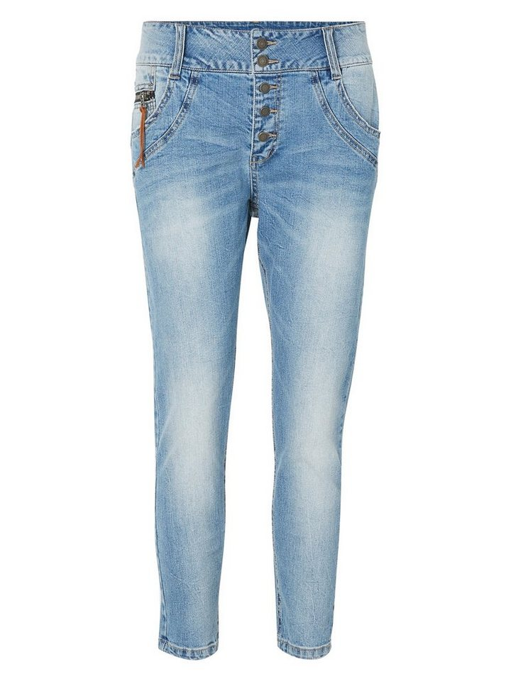 Vero Moda Max LW Ankle Anti-fit jeans in Light Blue Denim