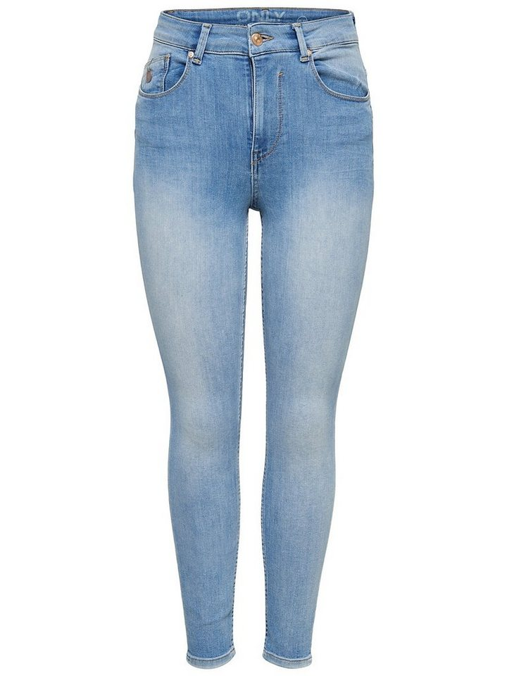 Only Piper Highwaist Ankle Skinny Fit Jeans in Light Blue Denim