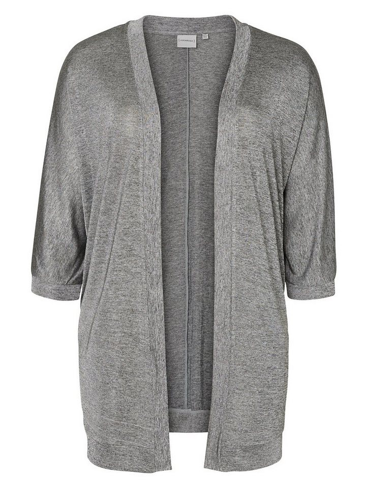 JUNAROSE 3/4-ärmelige Strickjacke in Medium Grey Melange