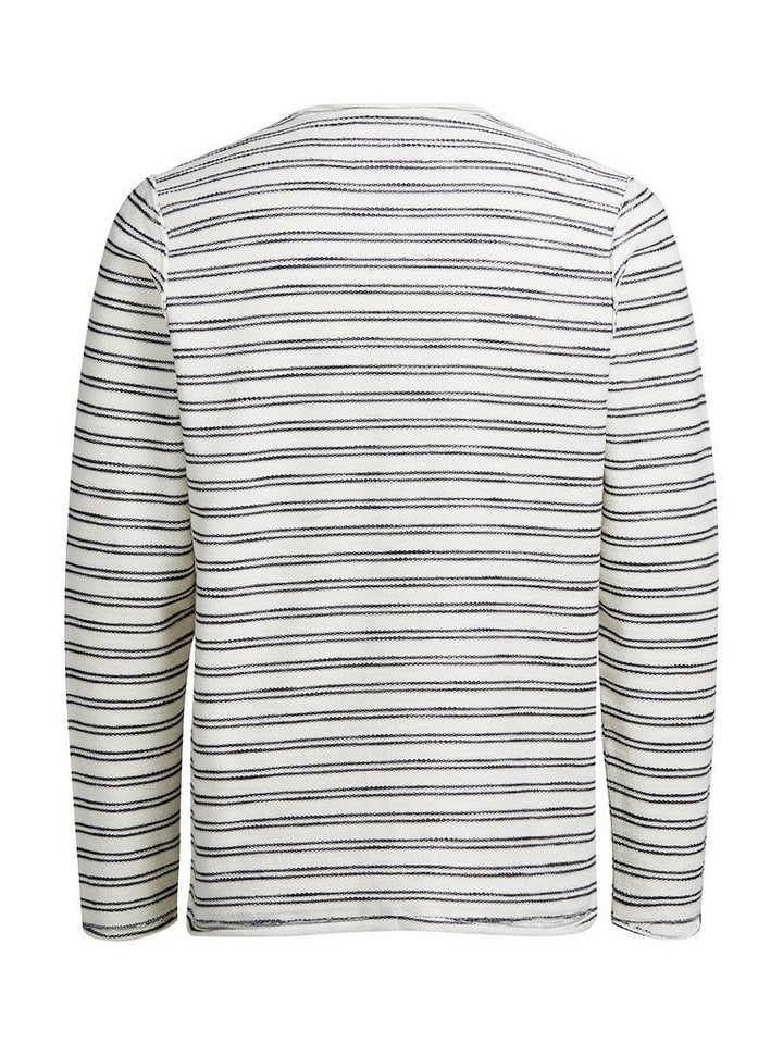 Jack & Jones Gestreiftes Sweatshirt in Whisper White