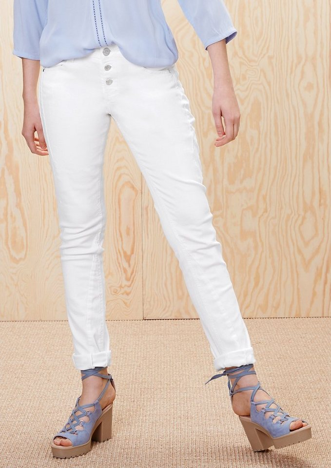 s.Oliver RED LABEL Smart Slim: Stretch-Jeans  in white denim stretch
