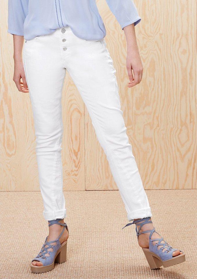 s.Oliver RED LABEL Smart Slim: Stretch-Jeans in white denim stretch