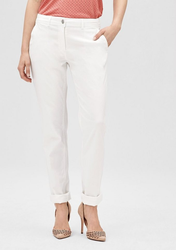 s.Oliver PREMIUM Easy: Stretchige Chino in summer white