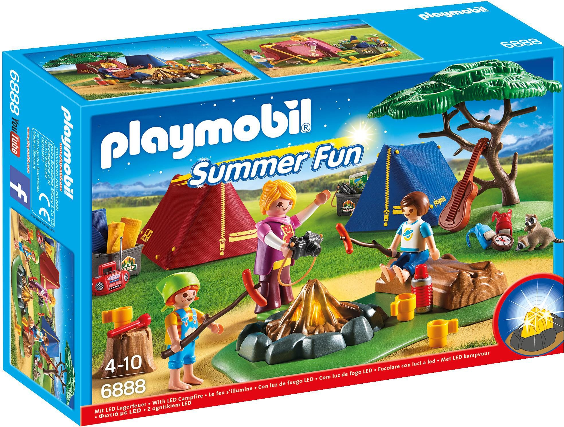 Playmobil® Zeltlager mit LED-Lagerfeuer (6888), »Summer Fun«