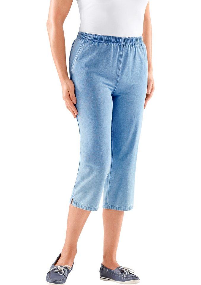 Classic Basics Capri-Hose mit Rundum-Dehnbund in blue-bleached