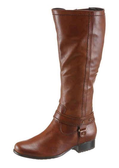 Jenny Stiefel, mit variablen XL-Schaft, braun, XL-Schaft, EURO-Größen, dunkelbraun