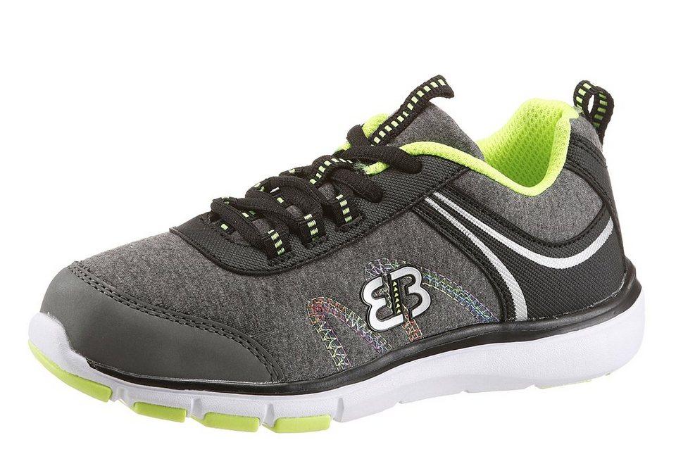 BRÜTTING »Bolero« Sneaker mit herausnehmbarer Sohle in grau-schwarz-neongelb