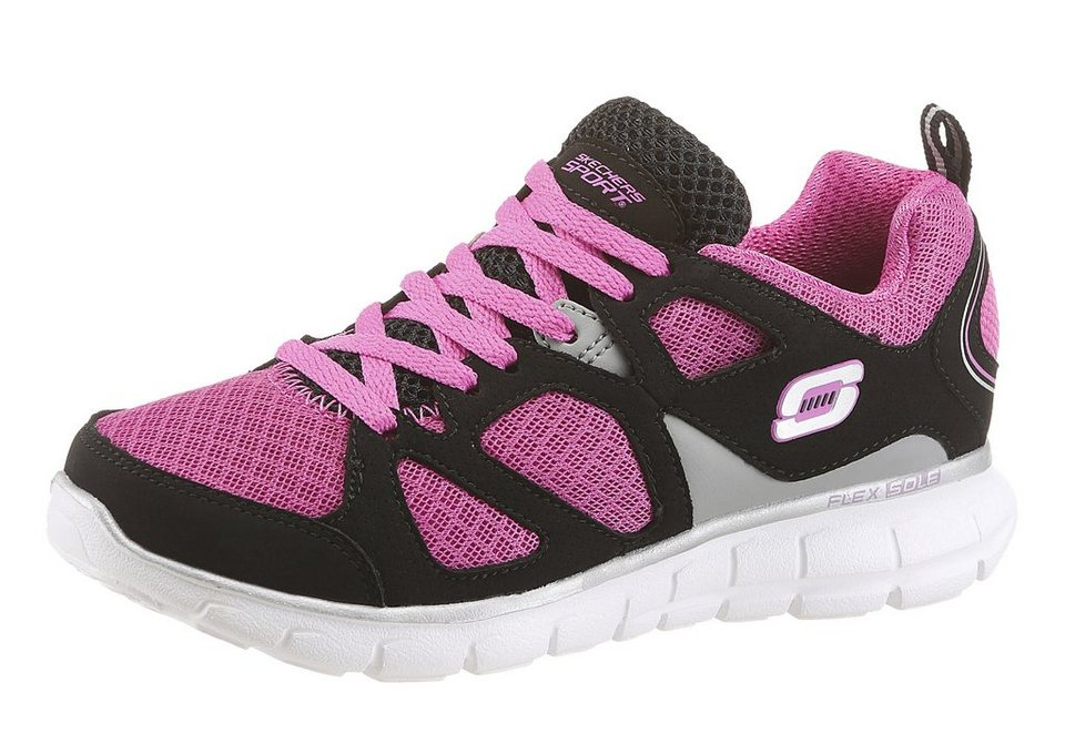 Skechers Kids »Vim« Sneaker mit Flex Sole in pink-schwarz