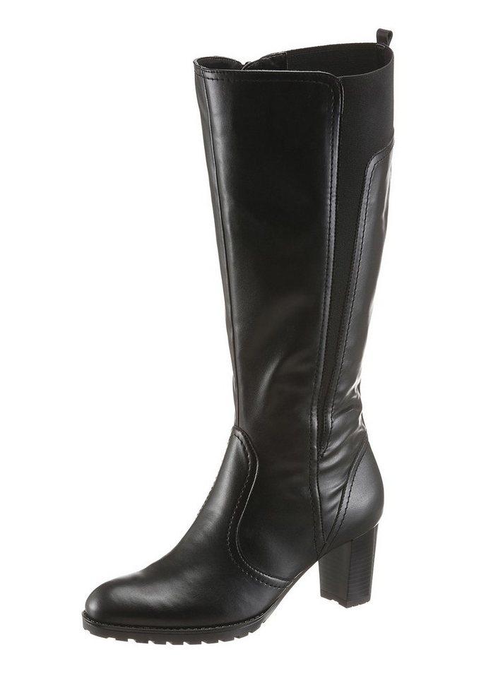 Jenny Stiefel mit XL-Schaft in schwarz