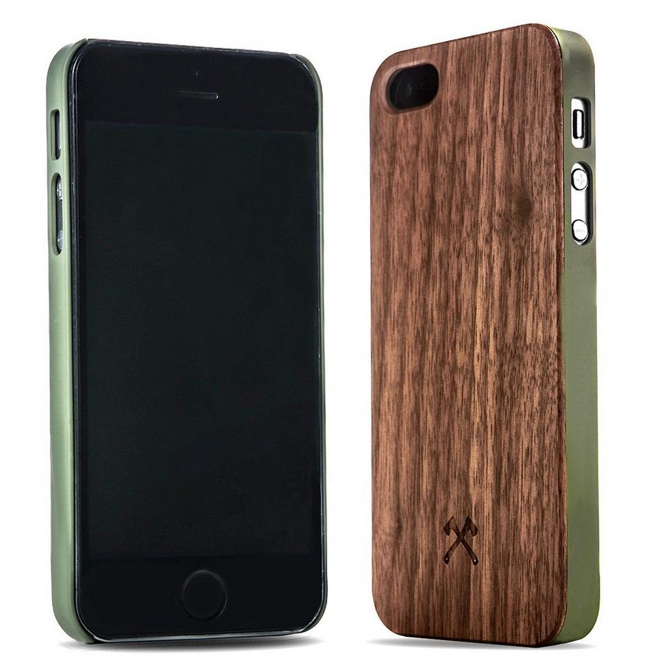 Woodcessories EcoCase - iPhone SE / 5 / 5s Echtholz Case - Connor in braun