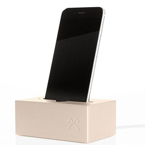 SolidDock Aluminium Ladestation für das Apple iPhone, Farbe: gold in gold