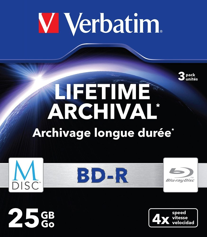 Verbatim M-DISC BD-R 25GB/1-4x Slimcase (3 Disc)