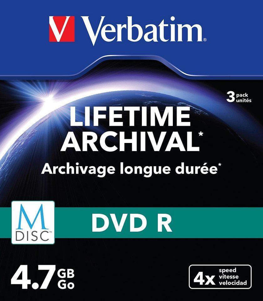 Verbatim M-DISC DVD 4.7GB/120Min Slimcase (3 Disc) in silver