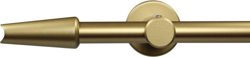 Gardinenstange nach Maß Ø 20 mm, Garesa, »Fit«, ohne Ringe, mit geschlossenem Träger in gold matt