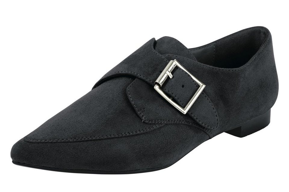 Heine Slipper in schwarz