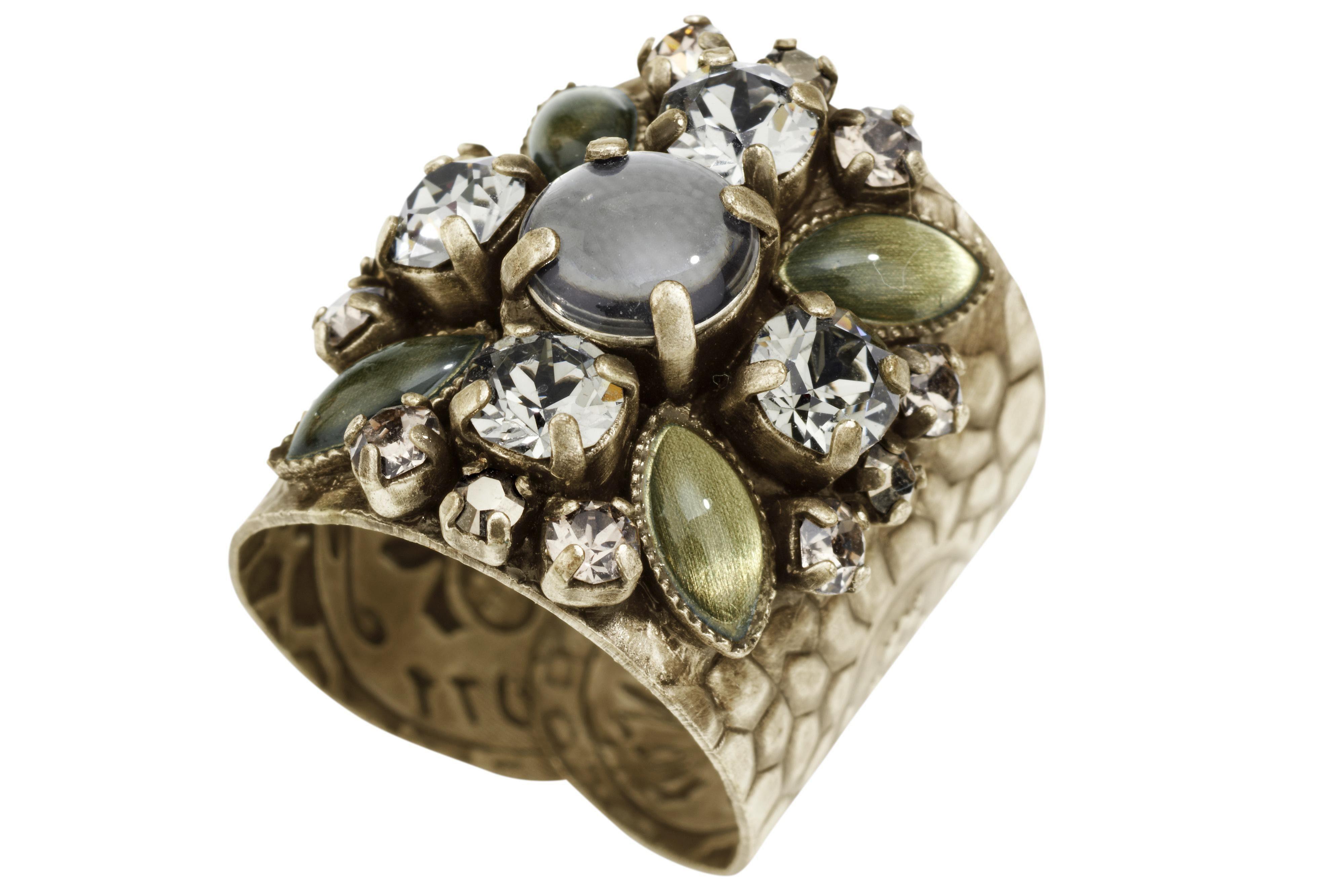 KONPLOTT Ring mit Swarovskisteinen