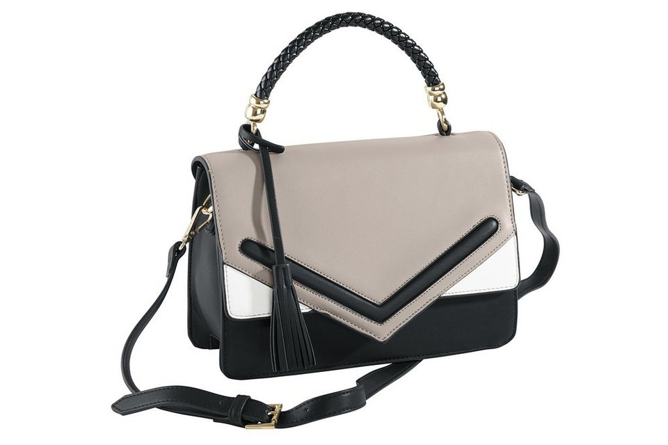Tasche in grau/schwarz